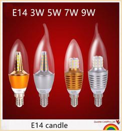 YON Free shipping 10pcs Led Bulb E14 SMD 2835 E14 Led Candle 220v Home Lighting Led lamp E14 3w 5w 7w 9w
