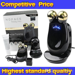 Wholesale NuFACE Trinity PRO K Gold Facial Toning Kit Limited Edition face massager electric roller Multi Functional Beauty Equipment Without Bag