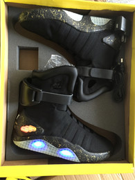 Wholesale Air mag Back to the Future McFly LED Mens Mag back to the future Basketball Shoes Mens mcfly lighting Luxury Grey Boots