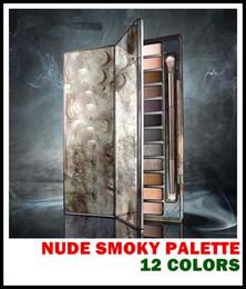 Promotion libre pc 6 PCS avec LOGO Maquillage Palette Smoky NUDE 12 Couleur Eyeshadow Palette 12 * 1.3g de haute qualité Livraison gratuite gros