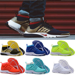 Wholesale 2016 Hot Sale Presto Ultra Olympic BR QS Women Men Running Shoes NAVY RED GOLD Fashion Casual Walking Airs Sports Sneakers Size