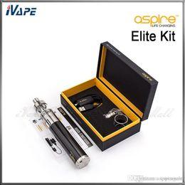 Descuento aspire atlantis mega Auténtico Aspire Elite Starter Kit con Aspire CF MAXX VW 3000mah 50W y Aspire Atlantis Mega Tanque 5.0ml Mejor Precio E Kit de cigarrillos