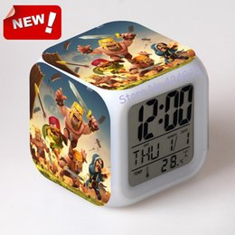 Wholesale Clash of Clans tribal conflicts wars around the hand travel COC model Colorful LED Alarm Clock