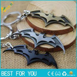 Wholesale Batman Movie Keychain Super Hero Superhero Key Chain Key Ring Holder Keyring Porte clef Gift Men Women Souvenirs