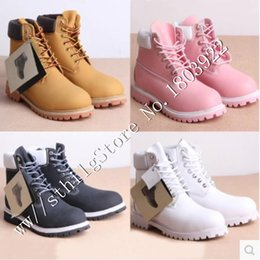 Wholesale 10 styles casual Winter Western men women ankle Leather waterproof Tooling military boots sport Mens Martin Outdoor snow shoes