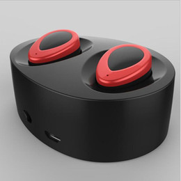 Wholesale Mini Twins True Wireless Bluetooth Stereo Headset Sport Headphone In Ear Earphones Earbuds Earpieces TWS With Charging Socket for Smartphone