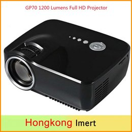 Wholesale New EMP GP70 Lumens Projectors High Power LED Light Source Full HD Projector Video Home Cinema Support Stereo Audio Output