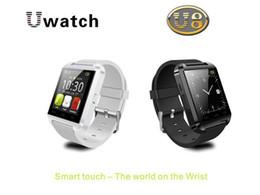 Nouvelle u8 bluetooth montre-bracelet à puce en Ligne-U8 Smart Watches Montres-bracelets Bluetooth Altimètre Smartwatch pour Apple iPhone 6 Samsung S4 S5 Remarque Android HTC Smartphones Brand New