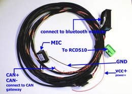 Wholesale Accessories Bluetooth Car Kit Wire Harness and Microphone For VW Bluetooth Interface Module W2 k8 D For RCD510