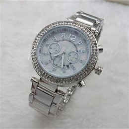 Luxury 2016 Famous designer women rhinestone watches fashion luxury Dress Michael ladies watch Imitation Conch Dial Ma'am Watches wholesale
