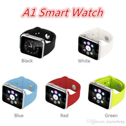 Wholesale Sim Supported Watch - A1 Smart Watch GT08 U8 DZ09 Smart Watches Smartwatch iWatch Support SIM TF Card Smart Wrist Watches With Silicone Strap Smartphone DHL
