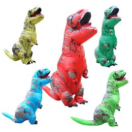 Wholesale Inflatable Dinosaur T rex costumes halloween costume for women men cosplay party use for adult Anime jumpsuit costume
