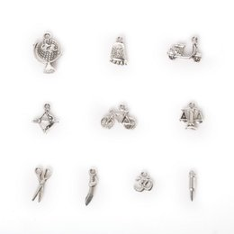Wholesale New Mixed Antique Silver Plated Zinc Alloy Bow Bullet Scale Charms Pendants DIY Metal Jewelry Findings jewel