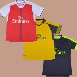 Wholesale 2016 Home Red Away Yellow Football Soccer Jerseys Shirt Alexis Bellerin Campbell Chamberlain Gabriel Gibbs Giroud Ozil Walcott Mertesacker