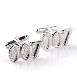 2016 new jewelry movie 007 electroplating men's cuff links men's clothing accessories zinc alloy 10.4g pair suit wear