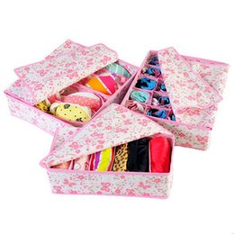 Wholesale 1 Set New Non woven Heightening Underwear Storage Box Three piece Bra Socks Storage Tool Housekeeping Home Daily Finishing Creative