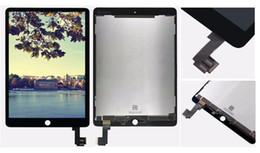 2016 nouveaux écrans lcd AAA LCD de haute qualité Nouveau et original iPad Air2 IPad 6 LCD écran tactile Digital Converter Tablet PC Assemblage Accessoires de réparation, Noir budget nouveaux écrans lcd