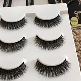 Acheter en ligne Cils de scène-Nouveau multi-couche fil de coton noir 3D épais cils faux croix Messy faits à la main naturelles cils yeux maquillage étape faux cils 3d-30
