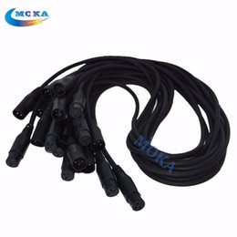 Wholesale meter pin Male Female XLR Signal Connection DMX Cable signal cable for stage lighting effect fast shipping