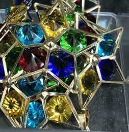 DIY charm mixed color Rhine stone stars gold big pendant size about 52mm 20pcs free shipping