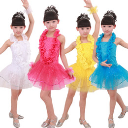 Sequined White Girls New Sleeveless Jazz Dancewear Dress kids Ballroom Hip Hop Dancing Costumes 90cm-160cm Performance Party stagewear dress
