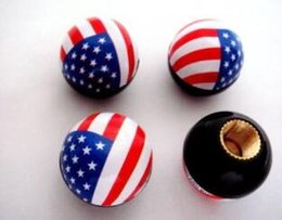 Wholesale Universal Tire Wheel Air Valve Cap Covers ball USA UK flag For Car Motorcycle Bike