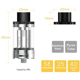 Wholesale 100 Original Aspire Cleito ML Top Filling Cleito W Atomizer Advanced Airflow Technology Wide Bore Drip Tip For CBD oil
