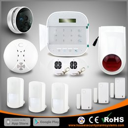 Perfect Combine WIFI+GSM Dual Net Wireless Home Anti Burglar Security Residential Alarm System With IP Camera By DHL Free