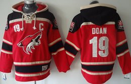 Wholesale old time men s long sleeves hockey hoody hoodies phoenix coyotes shane doan red please read size chart before order