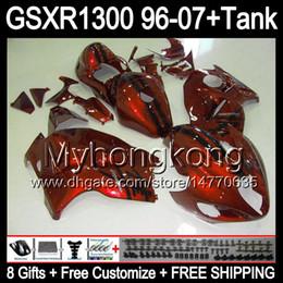 Brillant orange 8gift Pour SUZUKI Hayabusa GSXR1300 96 97 98 99 00 01 13MY139 GSXR 1300 GSX-R1300 GSX R1300 02 03 04 05 06 07 TOP carénage noir à partir de 98 gsxr carénage orange noir fabricateur
