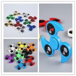 2017 Whirlwind groy EDC Plating Tri-Spinner Fidget Toys Pattern Hand Spinner Alloy Fidget Spinner for ADHD Adults Children Educational Toys