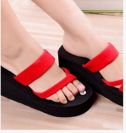 PT42 girls sandals platform shoes women slippers eva open toe wedges summer