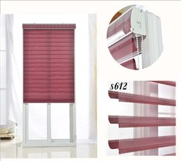 Wholesale Polyester Translucent Customerized Size Zebra Blinds In Colors Window Shade Curtains For Living Room