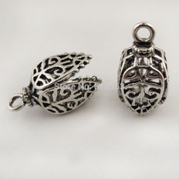 Wholesale Retro Style Antique Silver Tone Copper Oil Lamp Lantern Pendant Charm ps mm