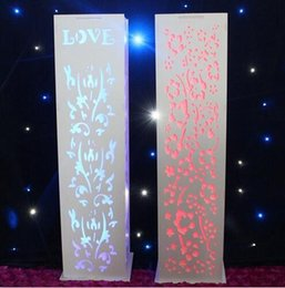 wedding t-road column Free shipping wedding decoration Wedding carved pillar stand with warm white LED light