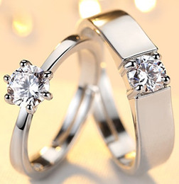 Engagement ring Dimond silver wedding gold Ti new arrive arrow heart Anniversary Solitaire lady SG JP crastyle women Paris EUR US