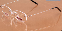 (10pcs lot) fashion rimless reading glasses, metal presbyopic glasses with cases power +1.00 to +4.00