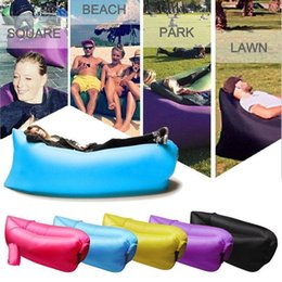 Wholesale Fast Inflatable Sofa Camping Sleeping Bag Outdoor Lazy Air Sleep Sofa Couch Portable Sleeping Beach Hangout Lounger Inflatable Air Bed F31