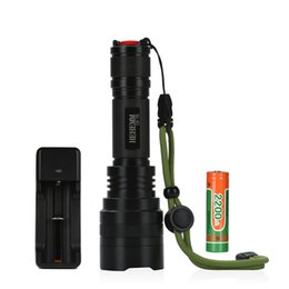 1800 Lumen Flashlight Torch for Riding, Camping, Hiking, Hunting & Indoor Activities with one Piece 18650 Battery and Charger