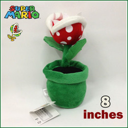 Wholesale X Super Mario Bros Plush Doll Toy Flower Decoration in Piranha Plant Kawaii Kids Stuffed Toys For Children Dolls