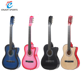 Wholesale quot String Cutway Folk Acoustic Guitar with Strap Bag Pitch Pipe Tuner Picks Pin Puller Lock Pins Peg for Music lover