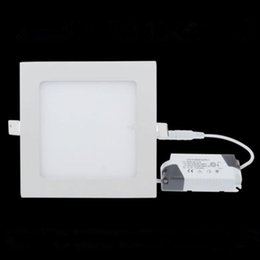 New LED Square Panel Ceiling Light 6W 9W 12W 15W 18W 21W SMD 3528 LED Warm Cool White Ceiling light Panel lamp Downlight