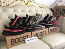 Wholesale SPLY V2 Correct Version Big size Mix Colors Beluga Black Grey Kanye West V2 BOOST Running Shoes with Box Receipt Socks Keychain