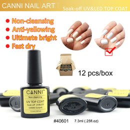 Wholesale CANNI Nail Art Gel Topcoat Gel Polish Use No Wipe No Alcohol Non Cleansing Top Coat