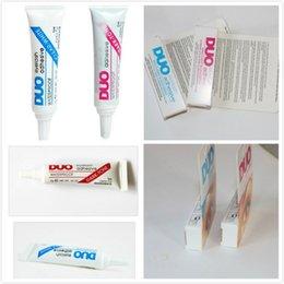 Promotion outils gratuits d'expédition 1000pcs en stock Adhésifs imperméables à l'eau DUO (colle) 9G Blanc / BlacK Make Up Tools Professional Livraison gratuite