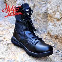 Wholesale Tactical Boots Lightweight Combat Outdoor Jungle Boots Military Desert Outdoor Shoes Waterproof Breathable Wearable Boots Hiking Black Sand
