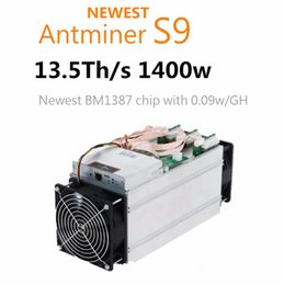 Wholesale hot sell new AntMiner S9 T9 W PSU T T Th s two fan Asic Miner Bitcon Miner nm BTC Mining SHA256 DHL shipping free