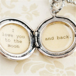 12pcs I love you to the moon and back - Women's Locket - in antique silver