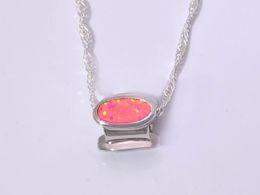 Wholesale & Retail Fashion Jewelry Fine Multi Fire Opal Stone Silver Plated Pendants For Women PMT16041702