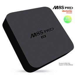 Wholesale Quad core GB GB M8S Pro Internet TV Box Android OS G Wifi RK3229 Digital TV BOX Kodi Add ons pre installed